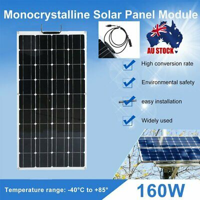 Ultra Thin Charging Device 160W Moncrystalline Flexible Solar Panel Module AUS