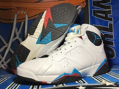 finest selection 19cca c826d Air Jordan VII 7 Retro White Orion Blue Black Infrared 304775 105 SZ 12