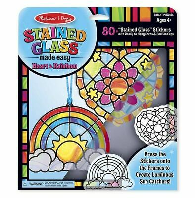 Melissa & Doug Stained Glass Hearts & Rainbows Ornaments craft Kit Stickers