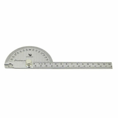 Stainless Steel Rotary Protractor Angle Ruler Gauge Machinist Measuring Tool CN
