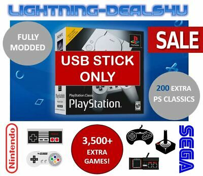 SALE USB Mod Hack 200+ Extra Games Sony Playstation Classic Mini PS1 + NES SNES