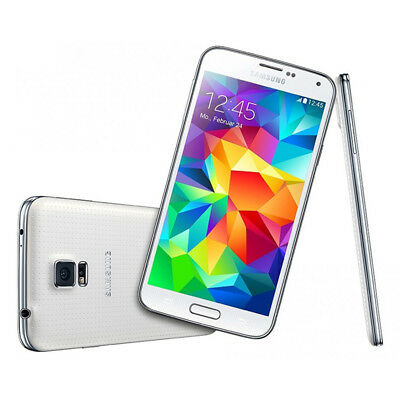 """5.1"""" Samsung Galaxy S5 SM-G900F 4G LTE GSM Unlocked Android Smartphone White"""