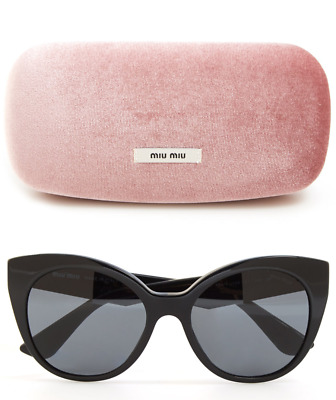 58502f962bd3 MIU MIU Oversized Cat Eye Sunglasses Black Crystal Arm Stardust Collection