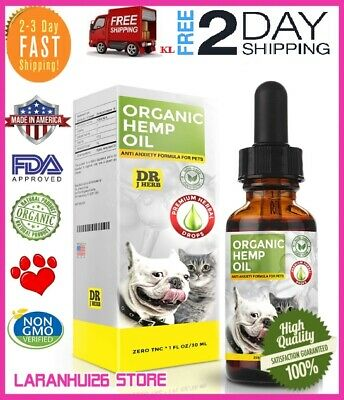 Organic,Hemp Oil for Dogs and Cats Pets Stress Anxiety Pain Relief 500mg Natura