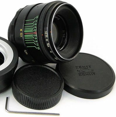 1975! ⭐PERFECT Con.⭐ HELIOS 44-2 M42 Lens + TOP Quality Adapter Fuji X-Mount FX