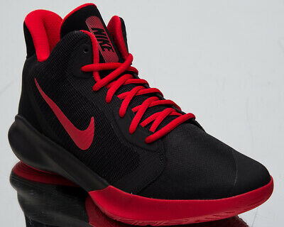 7b6ce622ab27 Nike Precision III Men s New Black University Red Basketball Sneakers  AQ7495-001