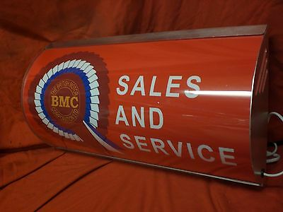BMC,austin,mini,mg,leyland,morris,garage,oil,light up,sign,mancave,50s,60s,70s