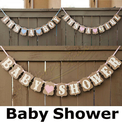 Baby Shower Banner It's a Girl Boy Hanging Bunting Garland Party Decoration UK