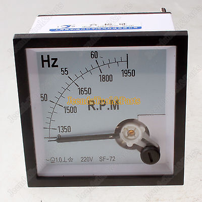 New 45-65Hz Range Square Dial Frequency Measurement Panel Meter