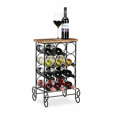 Designer Wine Rack for 12 Bottles, Metal Storage Shelf, Wine Holder Stand