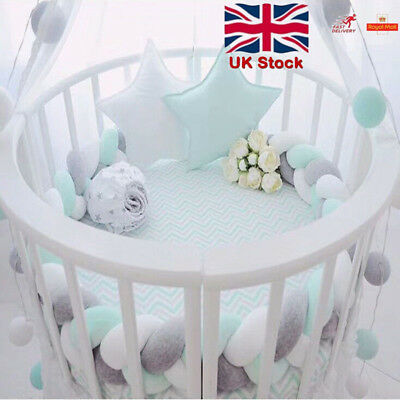 200cm Baby Bedding Bumper Knot Design Newborn Crib Pad Protection Cot Bumpers