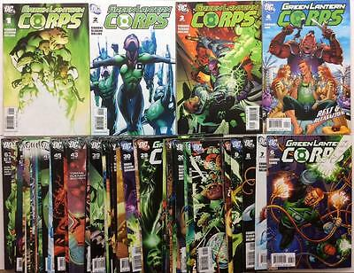 Green Lantern Corps #1 to #63 near complete series (2006 DC) 58 x issues.