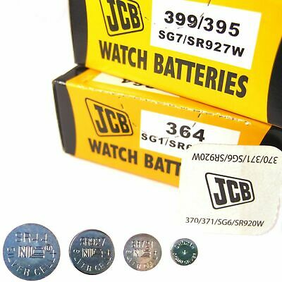 5 x JCB Watch Batteries 1.5V Silver Oxide Coin Cell Battery  ( All Sizes )