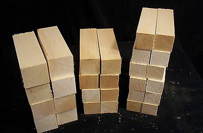 28 Piece Basswood Carving Multi Pack Blanks 1 1/2, 1 3/4, & 2 Inch Squares