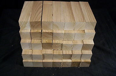 "35 Piece Butternut 1 1/2 sq. x 5 1/2"" Wood Carving Lathe Turning Kiln Dry Blanks"