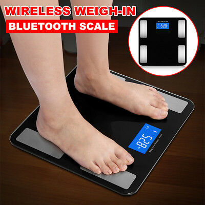 Wireless Bluetooth Digital Body Fat Scale Bathroom Health Analyser 180KG