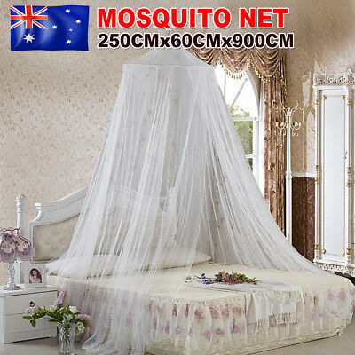 Double Single Queen Canopy Bed Curtain Bedding Dome Stopping Mosquito Net Insect