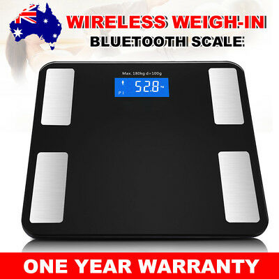 180KG Bluetooth LCD Body Fat Scale Bathroom Gym Weight Scales Electronic