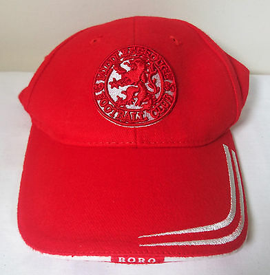 84421f103 Official Middlesbrough Football Club Crest MFC Adult Cap -- Boro (H)
