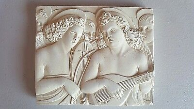 ANGEL MUSICIANS Wall Plaque hand cast plaster by Master of San Trovaso Religious