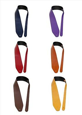 Leather Guitar Straps Job Lot Assorted Colours Genuine Leather UK Made