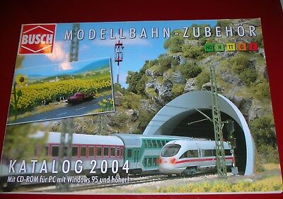 3 KATALOGE CATALOGUE  BUSCH  2004 MIT CD  Automodelle 2003 1:87  News 2003.  NEU