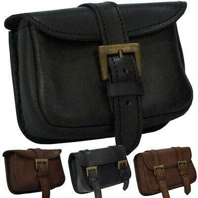 Leather Warrior's Bag with Belt Loops for Stage, Costume, Re-enactment & LARP