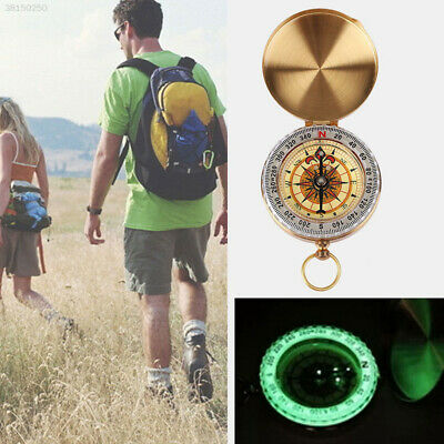 Brass Pocket Compass Watch Style Military Army Camping Hiking Outdoor Keychain