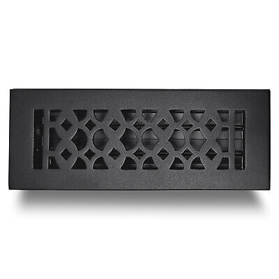 """Handcrafted Cast Iron Floor Register 3"""" x 10"""" Air Vent Cover for Home Decor"""