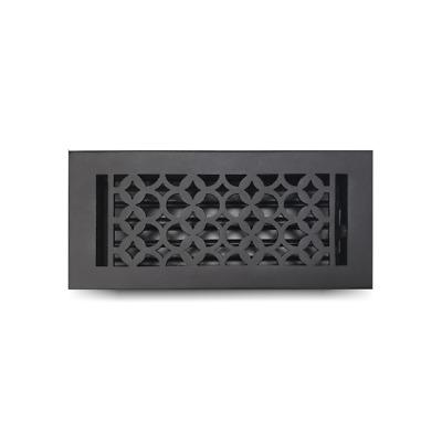 """Heavy Duty Cast Iron Floor Register 4"""" x 10"""", Durable Vent Cover for Home Decor"""