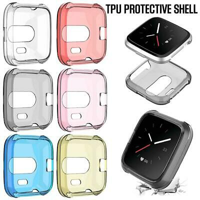 For Fitbit Versa Lite Edition TPU All Inclusive Screen Protector Frame Cover