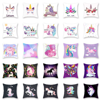 New 40 Style Unicorns Polyester Pillow Case Cover Waist Cushion Cover Home Decor