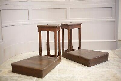 Superb pair of 18th century Travelling musicians stands, folk art