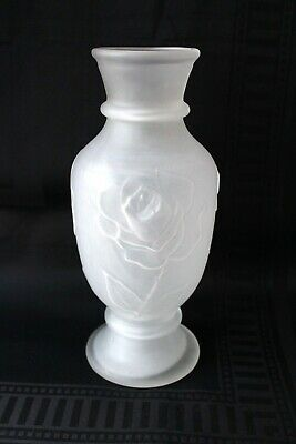Antique Bohemian Josef Inwald Barolac frosted vase