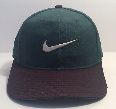 65db7fc7b VINTAGE 90S NIKE Hat Snapback Spell Out Logo With Swoosh On Back ...
