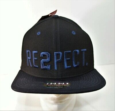 84c78fe524c9 Nike Air Jordan Derek Jeter Re2pect Black Snapback Hat Cap 715818 011 NEW  RARE