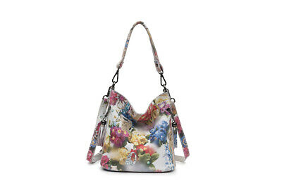 High Class Shiny Floral REAL LEATHER Women Handbags Bags ~ Genuine Cow Leather