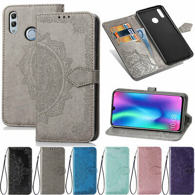 For Huawei Honor 9 10 Lite 7A 7S 8A V20 Embossing Flip Leather Wallet Case Cover