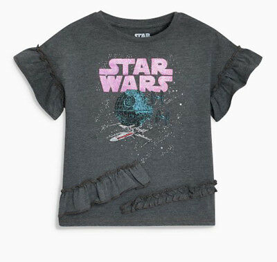 Sept Next Girls Ruffle Star Wars Top Age 4 Years BNWT Tag £13