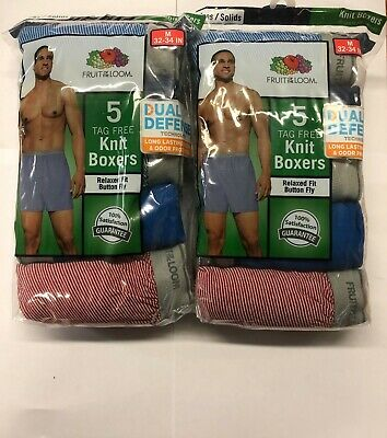 Fruit Of The Loom  10  Pk  Boxer Knit  Assorted Colors