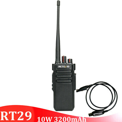5*Retevis RT29 10W UHF400~480MHz VOX Scan Squelch CTCSS/&DCS16CH 2Way Radio+Cable