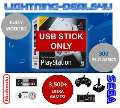 🔥 300 GAMES Sony Playstation Classic Mini Custom USB Mod PS1 NES SNES 👾 📺 🎮