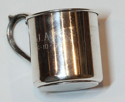 Vintage Alvin Lullaby Sterling Silver Baby Cup