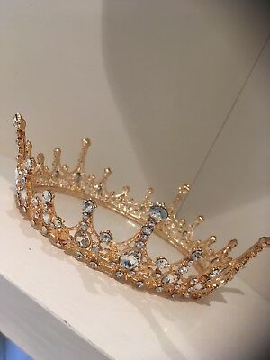 Gold/silver Full Crown . Wedding / Bride /prom Crown . BEAUTIFUL Crown. Photo