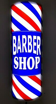 Barber Shop Pole Bright Led Lighted Striped 3D curved wall sign wall sconce