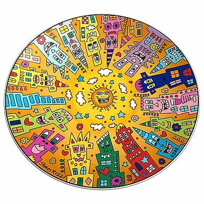 "James Rizzi: Porzellan Schale ""CITY SUNSET"", 35 cm, Goebel Porzellan, neu"