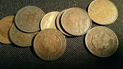 20 Mixed Canadian Large Pennies - Dealers Lot Better Grades 2013 NA Catalog $145