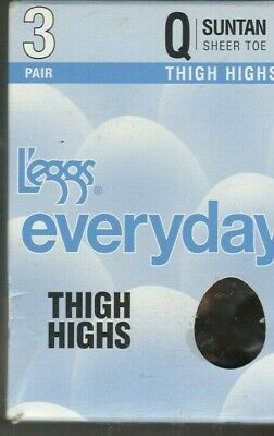 59dbe90b6d3 3-Pair L eggs Everyday THIGH HIGHS with Sheer Toe - 2 COLOR CHOICES