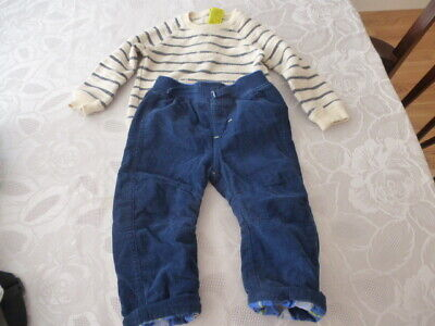 Joules baby boy top and trousers used