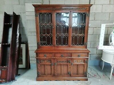 Old Charm, Leaded Glass, Display Cabinet/dresser